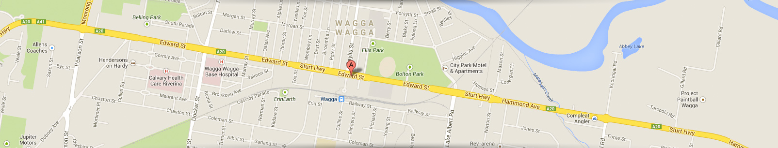 Wagga Hotel Motel Map Location